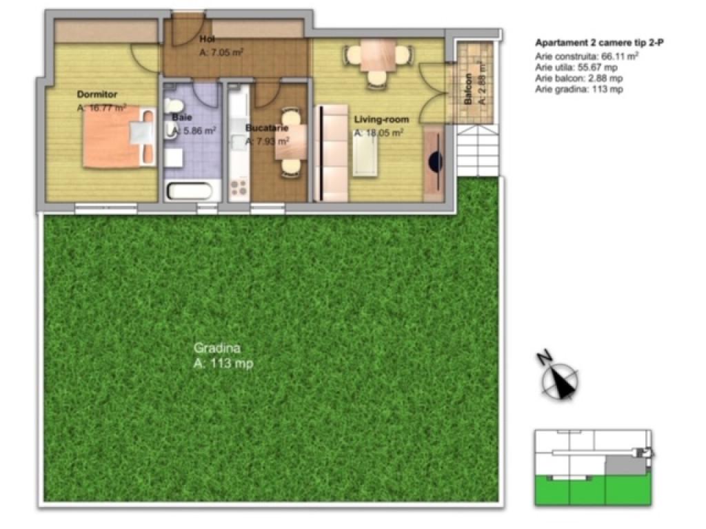 Vand Apartament 2 camere  Dobroesti ,  Dobroesti  -  33000  EURO;