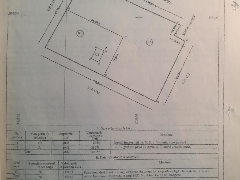 Vand Terenuri constructii  Dor Marunt ,  Dor Marunt  - 6700 EURO;